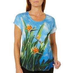 SunBay Womens Bird Of Paradise Dolman Sleeve Top