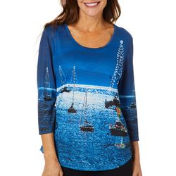 SunBay Womens Holiday Boat Parade Top