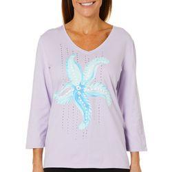 SunBay Womens Embellished Dancing Starfish Top
