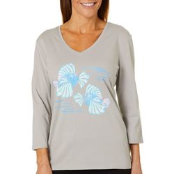 SunBay Womens Lion Fish V-Neck Top