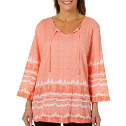 SunBay Womens Tie Dye Gauze Top