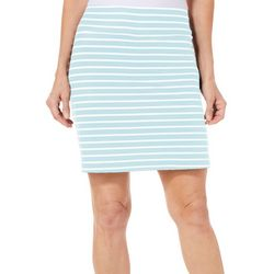 Coral Bay Energy Womens Striped Pull On Skort