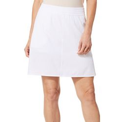 Coral Bay Energy Womens Solid Pull On Skort