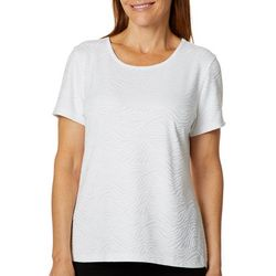 Coral Bay Energy Womens Textured Waves Short Sleeve