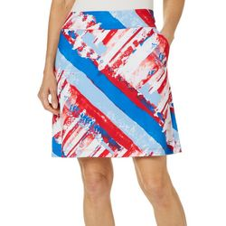 Coral Bay Energy Womens Americana Striped Skort