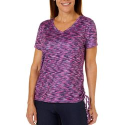 Coral Bay Energy Womens Ruched Space Dyed Top