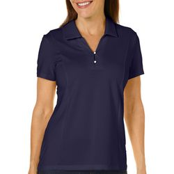 Coral Bay Energy Womens Solid Textured Polo Shirt