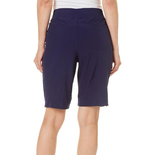 b1277b04bc5cd Coral Bay Energy Womens Pull On Solid Shorts