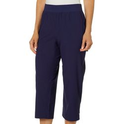 Coral Bay Energy Womens Pull On Solid Capris