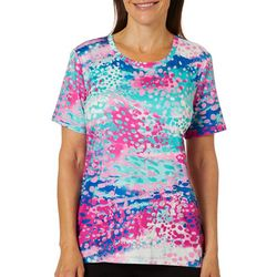 Coral Bay Energy Womens Painted Dot Top