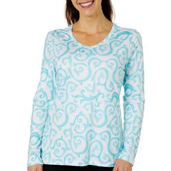 Coral Bay Energy Womens Scroll Print Top