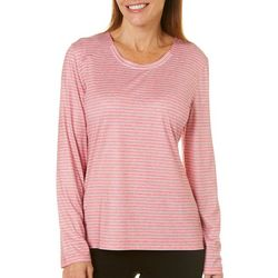 Coral Bay Energy Womens Thin Striped Long Sleeve Top
