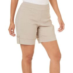 Coral Bay Womens Solid Pull On Millennium Shorts