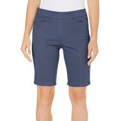 Coral Bay Womens Pull On Stretch Bermuda Shorts