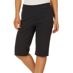 Coral Bay Womens Millennium Pull On Polka Dot Shorts