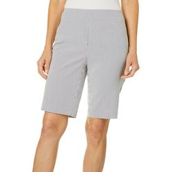 Coral Bay Womens Millennium Striped Bermuda Shorts