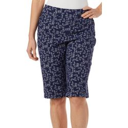 Coral Bay Womens Sailboat Printed Skimmer Shorts