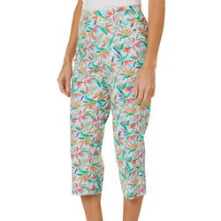Coral Bay Womens Bird Of Paradise Print Pull On Capris