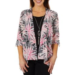 Coral Bay Womens Palm Star Duet Top & Necklace