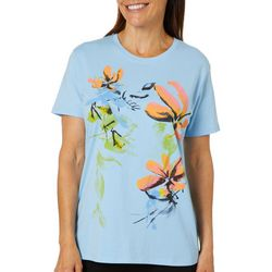 Coral Bay Womens Floral Screen Printed Top