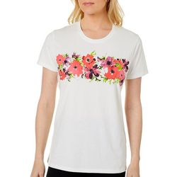 Coral Bay Womens Floral Butterfly Screen Printed Top