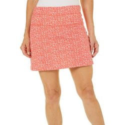 Coral Bay Energy Womens Crackle Print Skort