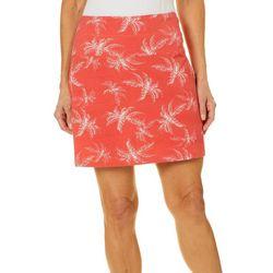 Coral Bay Energy Womens Tropical Palm Print Skort