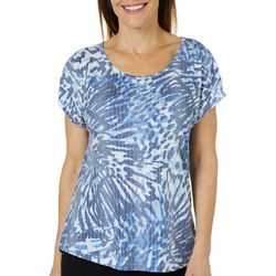 Coral Bay Womens Burnout Butterfly Wing Top