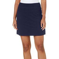 Coral Bay By Teez-Her Womens Solid Tummy Control Skort