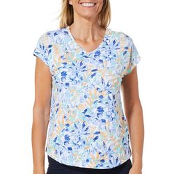 Coral Bay Womens Tropical Floral T-Shirt