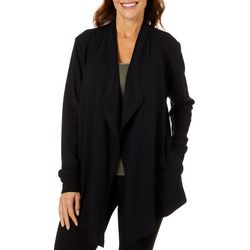 Coral Bay Energy Womens Solid Open Front Cardigan