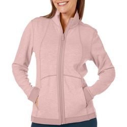 Coral Bay Womens Solid Heathered Jacket