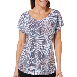 Coral Bay Womens Butterfly Wing Burnout Top