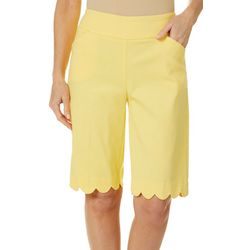 Coral Bay Womens Pull On Stretch Scallop Hem