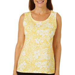 Coral Bay Womens Mixed Animal Print Scoop Neck Tank