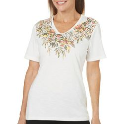 Coral Bay Womens Staycation Printed Tropical Top