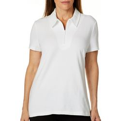 Coral Bay Energy Womens Striped Short Sleeve Polo Shirt