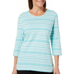 Coral Bay Womens Textured Striped Top