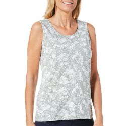 Coral Bay Womens Printed Scoop Neck Tank Top