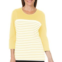 Coral Bay Womens Colorblock Striped Top
