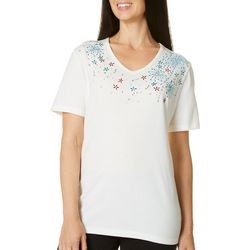 Coral Bay Womens Sweet Americana Firework Top