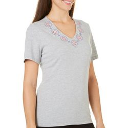 Coral Bay Womens Embroidered Top