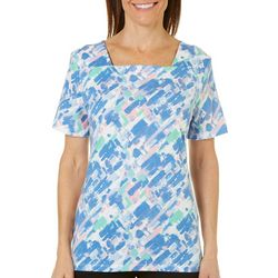 Coral Bay Womens Brushstroke Print Top