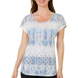 Coral Bay Womens Geo Burnout Top