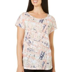 Coral Bay Womens Staycation Splattered Block Top