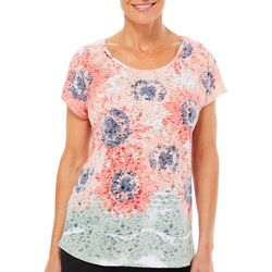 Coral Bay Womens Flower Fall Burnout Top