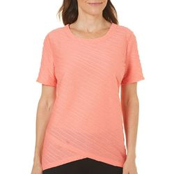 Coral Bay Womens With Love Textured Top
