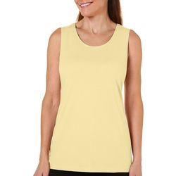 Coral Bay Womens Solid Tank Top