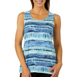 Coral Bay Womens Dotted Striped Tank Top