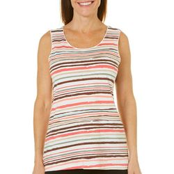 Coral Bay Womens Striped Sleeveless Top